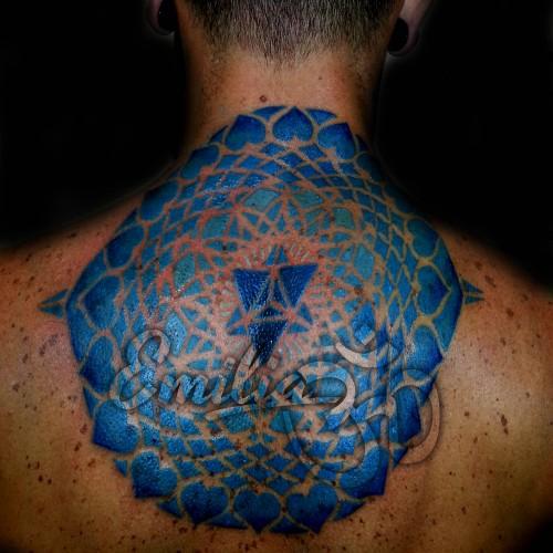 Mandala Full Back Tattoo