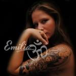 Black and White Spiritual Half Sleeve Tattoo
