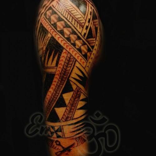 Polynesian Half Sleeve Tattoo - Balinese Tattoo Miami