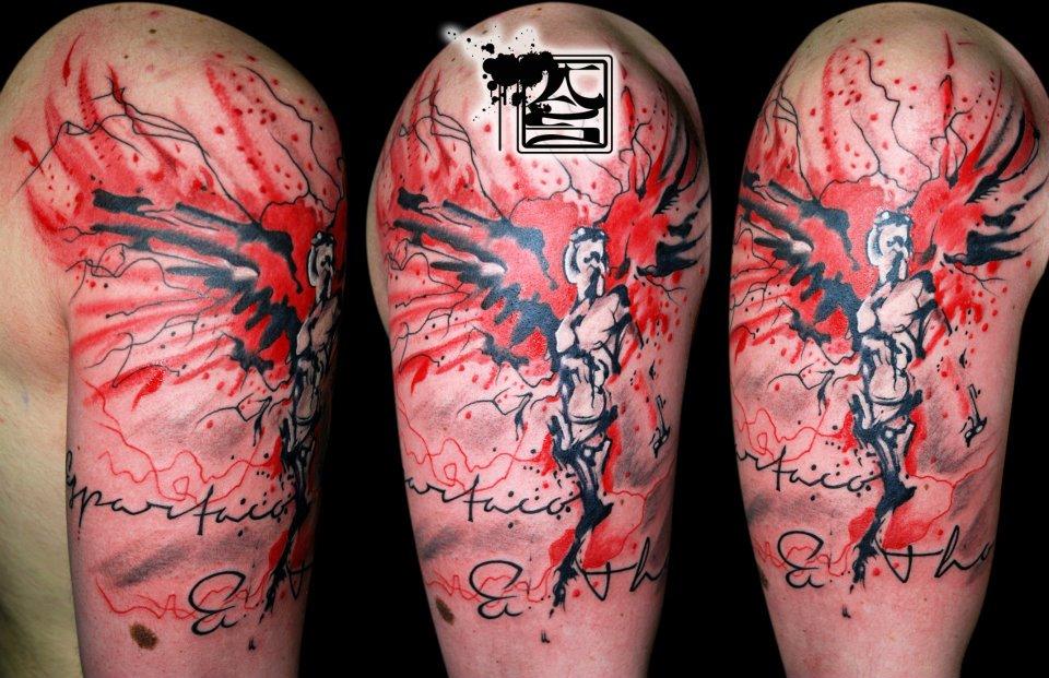Colorful Artistic Tattoo - Balinese Tattoo Miami