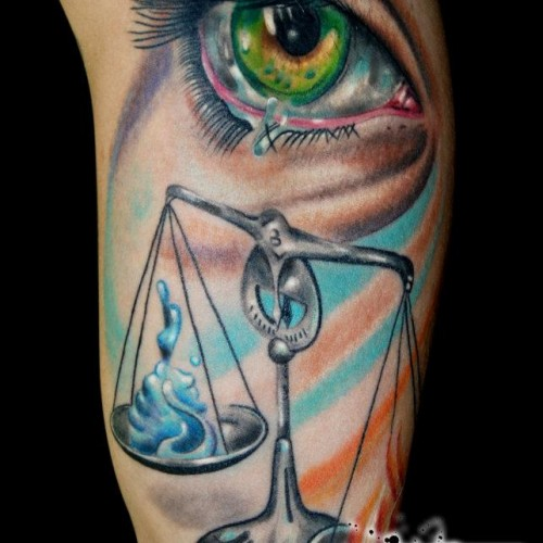 Artistic Colorful Tattoo