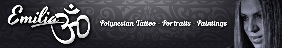 Emilia Tattoo Art - Polynesian Tattoo - Portraits - Paintings