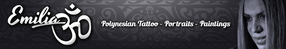 Emilia Tattoo Art - Polynesian Tattoo - Portraits - Paintings