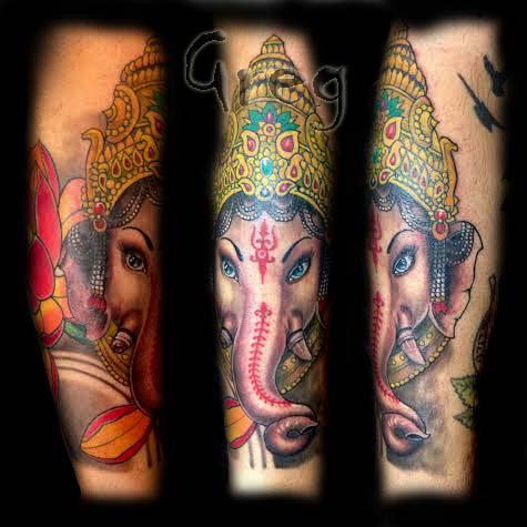 ganesh tattoo sleeve - photo #22