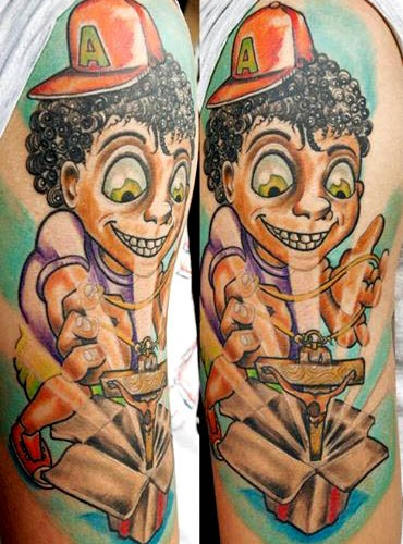 Colorful Artistic Arm Tattoo - Balinese Tattoo Miami
