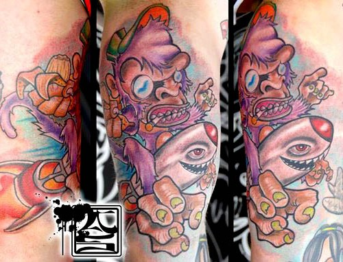 Colorful Artistic Arm Tattoo - Balinese Tattoo Miami